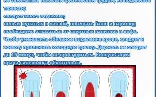 Как отличить месячные от кровотечения и как определить менструация или маточное кровотечение при беременности