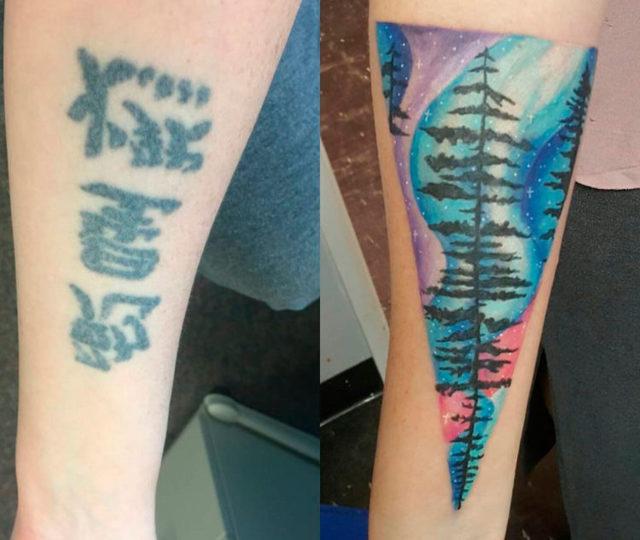 Перекрытие шрамов татуировкой на руке, животе от аппендицита и запястье, как ухаживать за тату и осложнения после татуажа