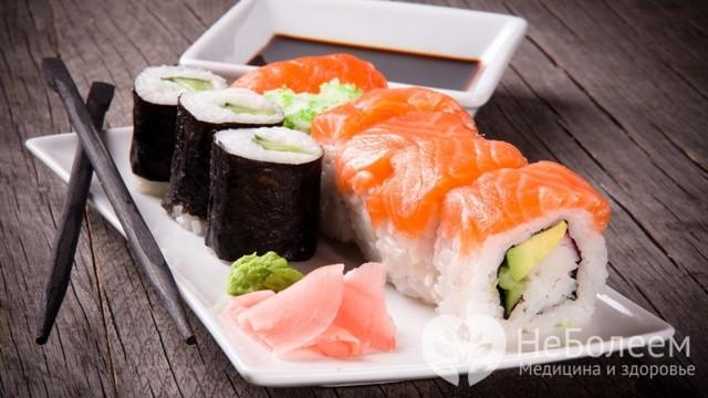 Отравление роллами и суши – симптомы и причины, что делать при отравлении и как после него восстановиться